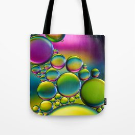 """Spherical Joining"" - Oil and Water Tote Bag"