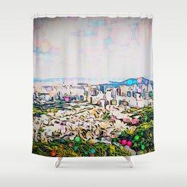 Inwang Mountain Shower Curtain