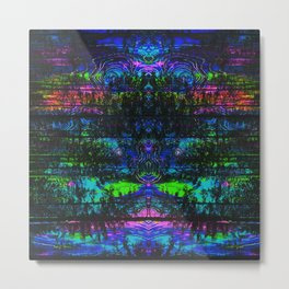Trippy Forest Metal Print