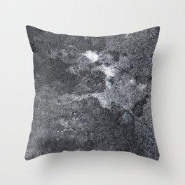 Clouded Rock Throw Pillow