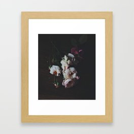 English Roses Still Life - Dark Number Two Framed Art Print