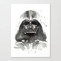 darth Canvas Prints featuring Darth Vader by Olechka
