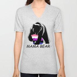 Mama Bear Genderfluid Unisex V-Neck