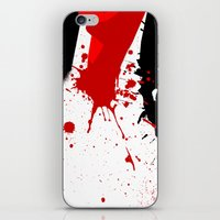 in the flesh iPhone & iPod Skins featuring Flesh Cutter by Kellie Anne