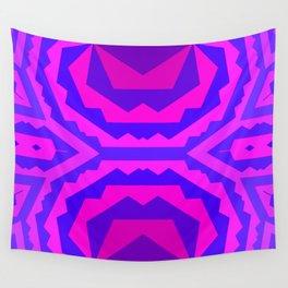 Fractal Indigenous Purple II Wall Tapestry