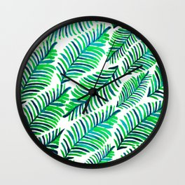 Palm Solace #society6 #buyart #decor Wall Clock