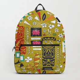 tiki yellow Backpack