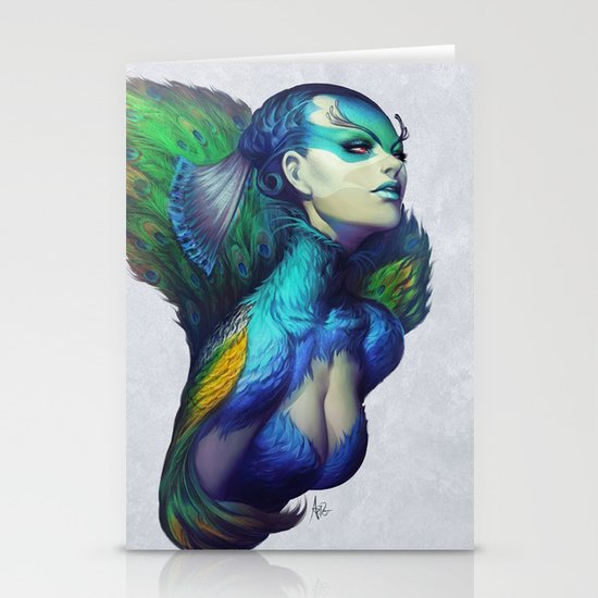 Peacock Queen Stationery Cards