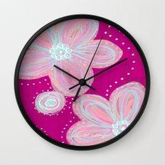 Pinked Wall Clock
