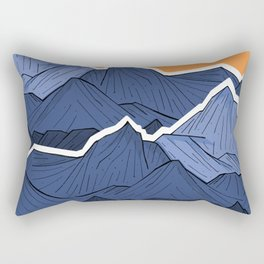 The mountains under the two suns Rectangular Pillow