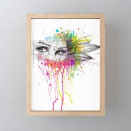 Beautiful Flower Eyes Framed Mini Art Print