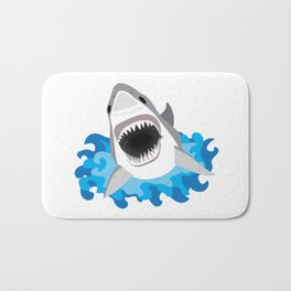Shark Attack #2 Bath Mat