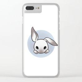 Cute Bunny Clear iPhone Case