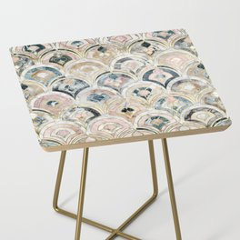 Art Deco Marble Tiles in Soft Pastels Side Table