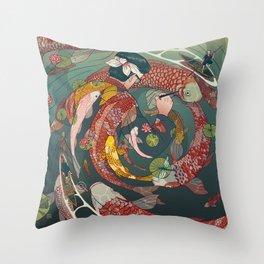 Ukiyo-e tale: The creative circle Throw Pillow
