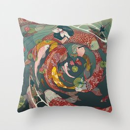 Ukiyo-e tale: The creative circle Throw Pillow
