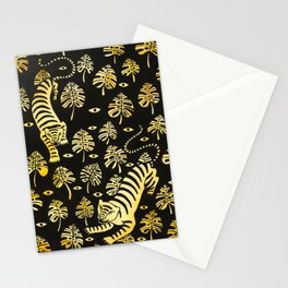 Tiger jungle animal pattern Stationery Cards