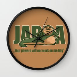Jabba the hutt Wall Clock