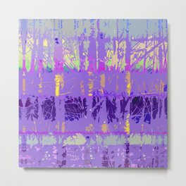 Abstract Forest Trees in Lavender and Lilac Metal Print