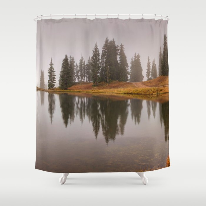 Colorado Fall Colors Panorama at Crested Butte Mountain Resort. Shower Curtain
