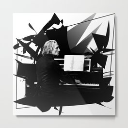 Franz Liszt - Piano King Metal Print