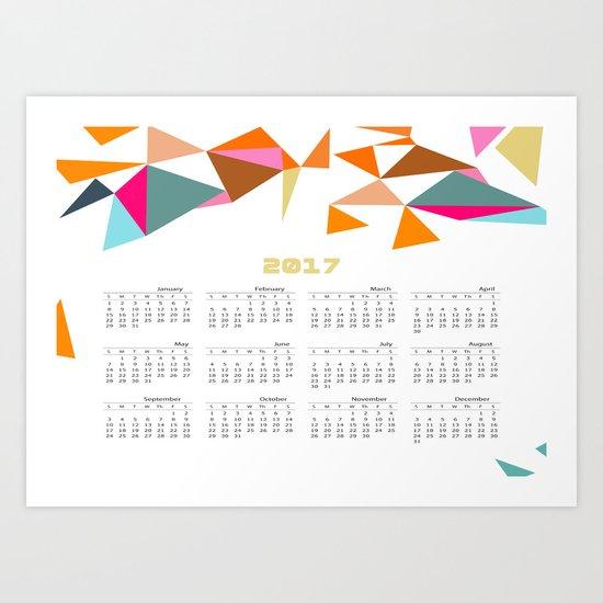Calendar 2017 Art Print