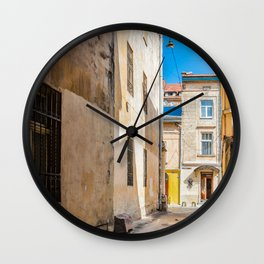 The courtyard of Lviv Wall Clock