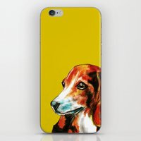 beagle iPhone & iPod Skins featuring Beagle by James Peart