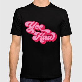 yee haw red pink quote T-shirt