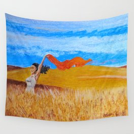 Field Frolic Wall Tapestry