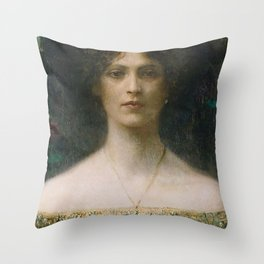 Lady Mourning Throw Pillow