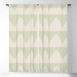 Geometric Pyramid Pattern - Soft Green Blackout Curtain
