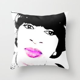 VIOLA MONROE Throw Pillow