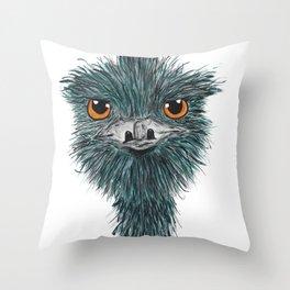 Derek the Emu Throw Pillow