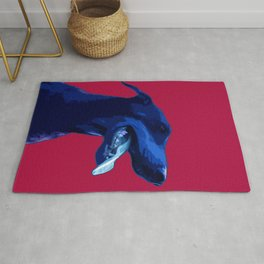 Doberman Pop art portrait. Rug
