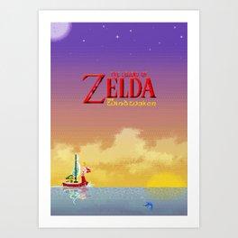 Pixelized : Wind Waker  Art Print