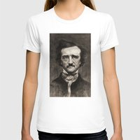 edgar allan poe T-shirts featuring EDGAR ALLAN POE by Jason Seiler