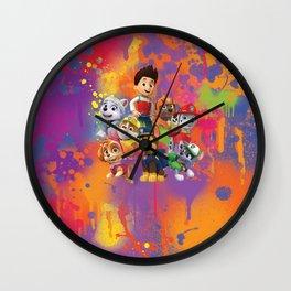 Paw Patrol group digital painting Wall Clock