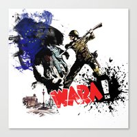 poland Canvas Prints featuring Poland Wara! by viva la revolucion