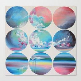 White Circles Canvas Print