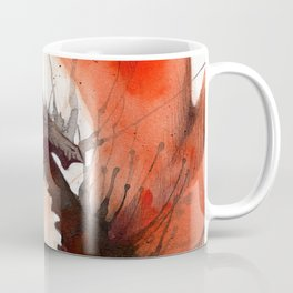 Ink Dragon Red Coffee Mug