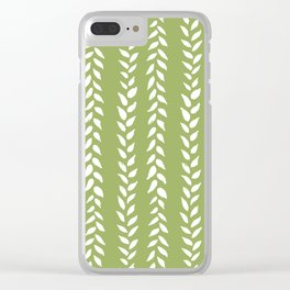 Sap Vines - nature spring leaves green pattern Clear iPhone Case