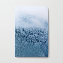 Moody Winter Forest in the German Alps – Landscape Photography Metal Print