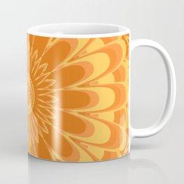 Summer In Full Bloom - Orange Mandala Coffee Mug