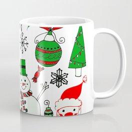 Happy Christmas Doodles Coffee Mug