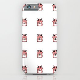 Cute Duotone Hamster Pattern Illustration iPhone Case