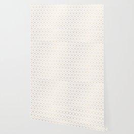 Gold Geometric Pattern on White Background Wallpaper