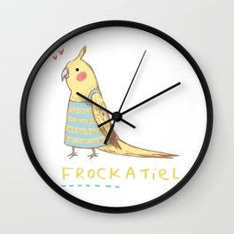 Frockatiel Wall Clock