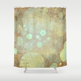 Goldy Mint Bubbles | Minimalist | Abstract | Modern | Shapes | Geometrix Shower Curtain