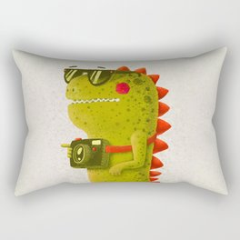Dino touristo (olive) Rectangular Pillow